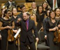 Orchestras team up for festive family concert