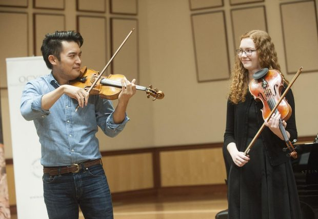O.C. violin students learn from a master